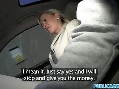 PublicAgent Good-sized tits blonde penetrated in car