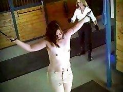 Bridget - barn flagellating (loop)