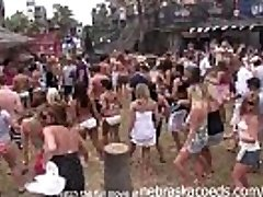 partying with their globes out on south padre beach