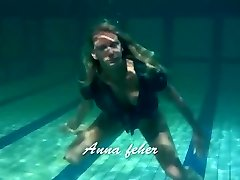 Blondie Feher with ginormous firm tits underwater