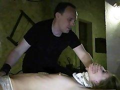 Defying gimp whipped grin after bondage creepy punishment