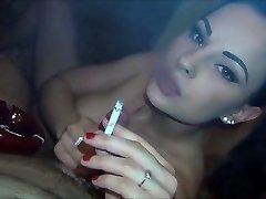 cigarette fetish blowjob and pound