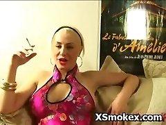 Perky Titty Girl Smoking Sex