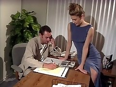 Ginormous tits brunette penetrated in the office