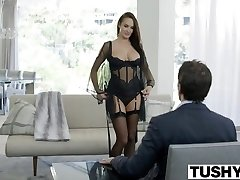 TUSHY Super-steamy Alektra Blue Assfucked by Huge Meatpipe