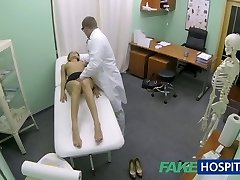 FakeHospital Warm girl with big melons gets doctors treatment