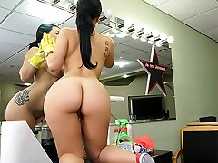 Kimmy Kush in Huge Latina Maid Enjoys Very First Day - BangBros