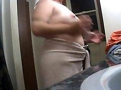 Meaty Nipple Wife After Bathroom on Hidden Cam 2