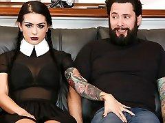 Katrina Jade & Tommy Pistol in Highly Adult Wednesday Addams - Katrina Jade - BurningAngel