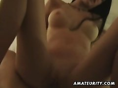Huge-chested amateur fucks on holiday