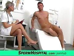 CFNM knob medical exam with splendid Czech MILF doctor Beate