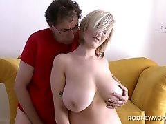 Siri Big Boobs Blonde Bikini Young Chubby Ravage and Facial