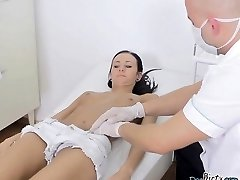 Skinny Bitch Martina Gets Felt Up By Doctor