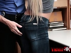 Lovely blonde chick pounded from behind