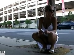 Riley Evans Finds a Spot to Pee in Public