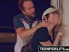 TEENFIDELITY - Aria Alexander Pays for Golf Lessons With Teenie Vulva