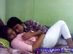 Huge-chested Desi Indian Innocent College GF Fucked by Beau