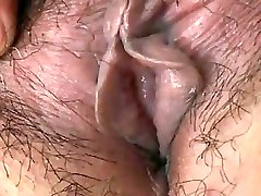 Asian Granny shows Tits and Pussy