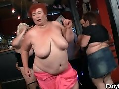 Hot bbw party in the club