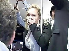 Blonde groped to climax on bus