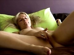 Danish blondie Laura shows private home solo