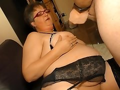 XXX Omas - First-timer German granny takes cock and cum on globes