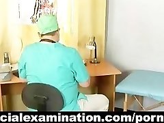 a very special gynecology check by horny doc
