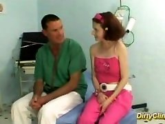 busty redhead teenager fucked by her doctor