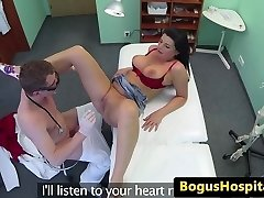 Busty euro inexperienced fucks doctor in his office