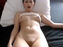 Sexy stunner nipples fingering fat cameltoe gash