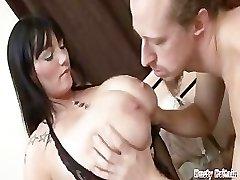 Big Tits BBW Simone Gets Hooters & Cunt Banged