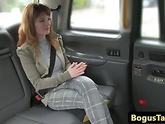 Huge-chested redhead cab cutie assfucked by driver