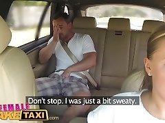 FemaleFakeTaxi Massive udders cabbie wants lollipop on the backseat