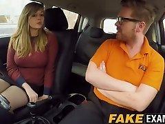 Curvy UK scum Madison Stuart banged at driving school van