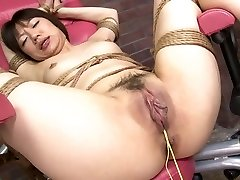 Dame's tight vag is pummeled hard with a fuck machine