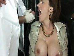 British Cougar Using Fuck Machine