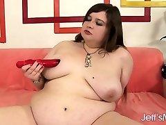 Chubby beauty wedges dildo
