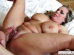 Mega busty stepmother Amber Lynn Bach is smashed by horny 19 yo son-in-law