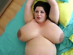 biggest baps ever on a 9 month preggo milf