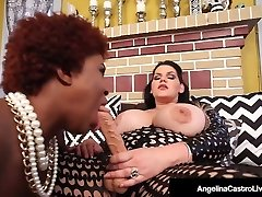 Steamy Latina BBW Angelina Castro StrapOn Fucks Black Maserati!