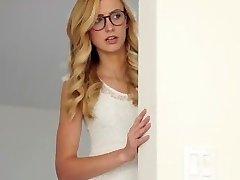 Dyked- Nerdy Blonde Professor Dominates hot Student