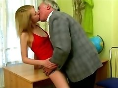 STP Bony Schoolgirl Gets Put Right By Headmaster !