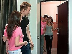 Brian & Renata & Curtis & Inna in Pummeling Welcome To Group Romp - YoungSexParties