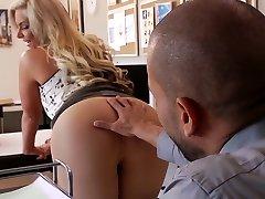 Busty blond nympho Phoenix Marie sucks hefty penis of fierce stud Karlo Karrera
