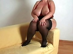 Breasty plus-size mother i'd like to drill in nylons