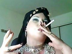 Princess Bella Donna,a plus-size smoking gypsy Queen.