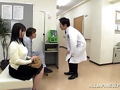 Big boobed Japanese nubile Aimi Irie in medical venture