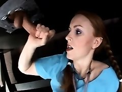 Impatient Nurse Uses Draining Table To Jerk Her Patient.