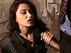 Erica Bella get plowed in the rest room