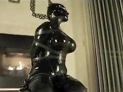 Latex bondage orgasm